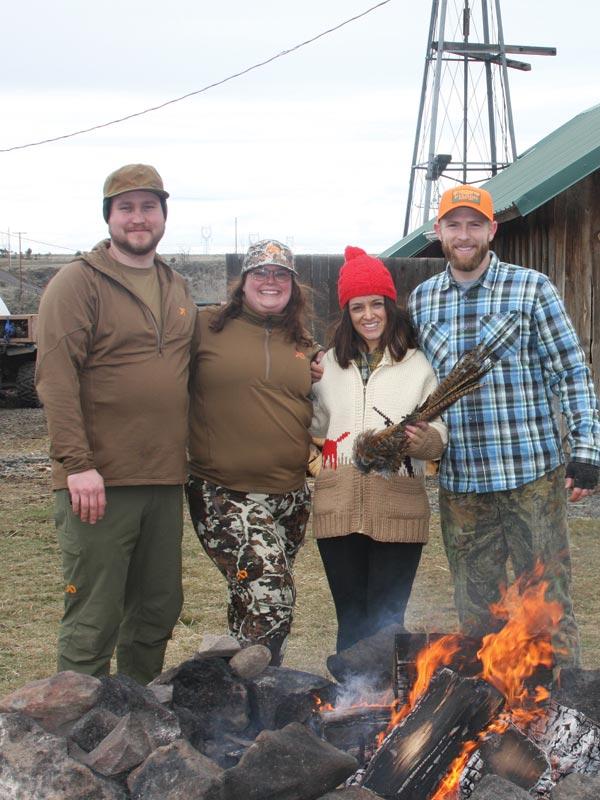 Hunting pics - cozy campfire